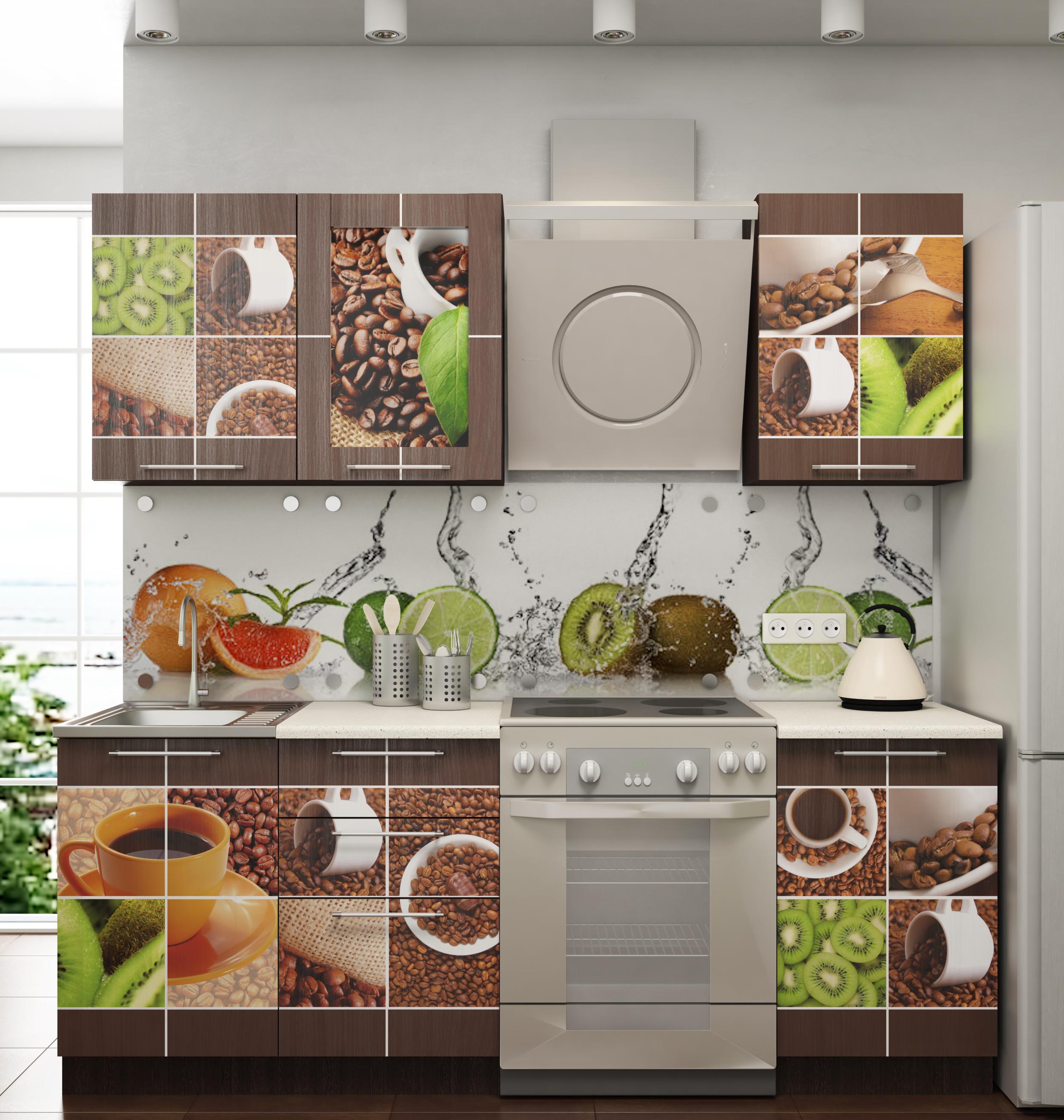 Фото с рекламой кухни позже